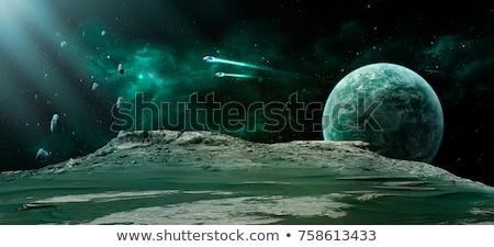 Uzay sahne 3d render okyanus geniş ekran gökyüzü Stok fotoğraf © kjpargeter