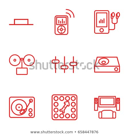 Mp3-плеер линия икона уголки веб мобильных Сток-фото © RAStudio