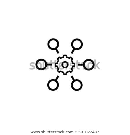 Süreç otomasyon ikon iş gri düğme Stok fotoğraf © WaD