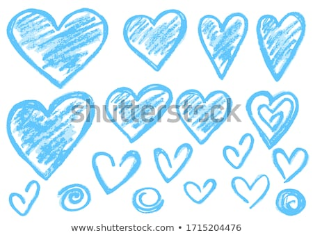 Heart. Drawn in chalk icon. Stock photo © RAStudio