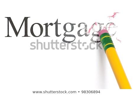 Gumki słowo hipoteka dług Zdjęcia stock © devon