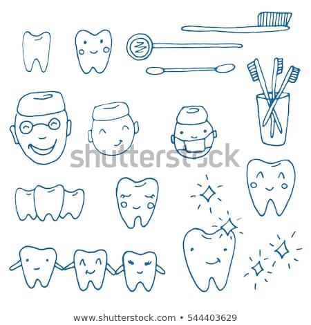 Doodle tand icon symbool Stockfoto © pakete