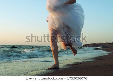 running on the coast closeup stock photo © -baks-