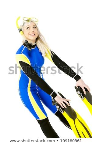 permanent · jeune · femme · équipement · femme - photo stock © phbcz