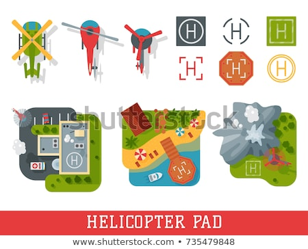 A helicopter landing at the ground Stock photo © bluering