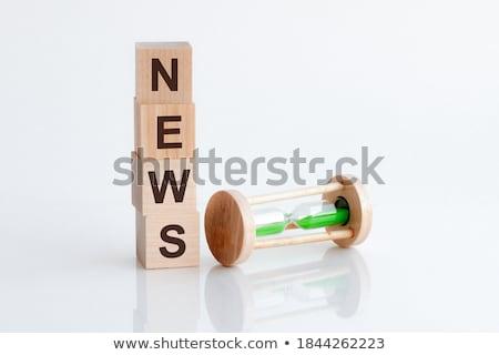 Hourglass and word insurance Stock photo © fuzzbones0