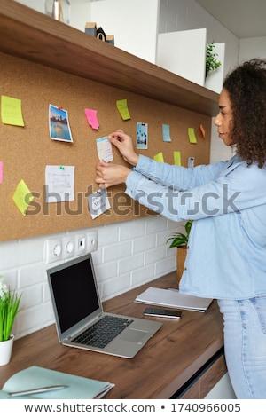 Succes controleren school boord krijt teken Stockfoto © fuzzbones0