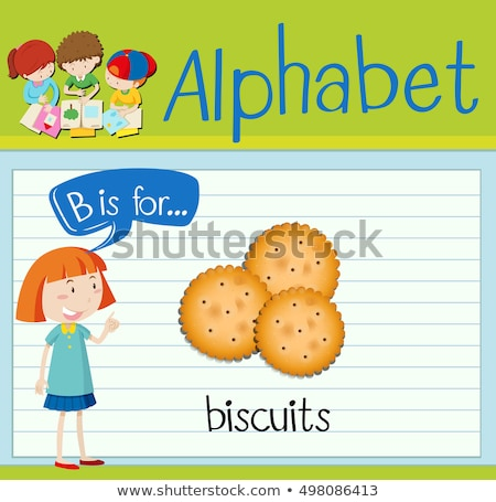 Flashcard letter B is for biscuits Stock photo © bluering
