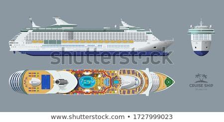 Seyir örnek beyaz okyanus mavi gemi Stok fotoğraf © ConceptCafe