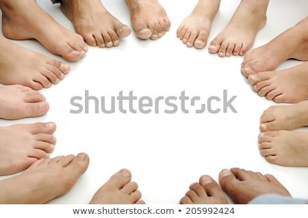 ストックフォト: 多くの · 脚 · フィート · サークル · 家族 · 子供