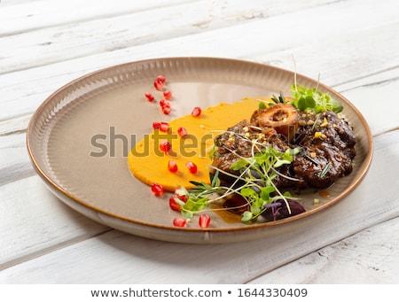тыква · белый · лист · мяса · приготовления · обед - Сток-фото © kalinich24