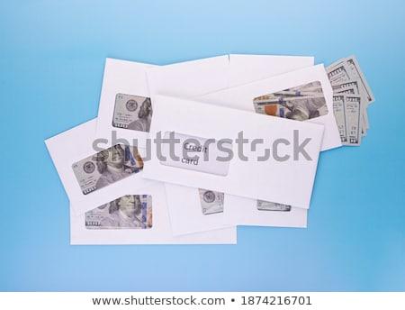 Kapalı beyaz zarf dolar şeffaf para Stok fotoğraf © stokato