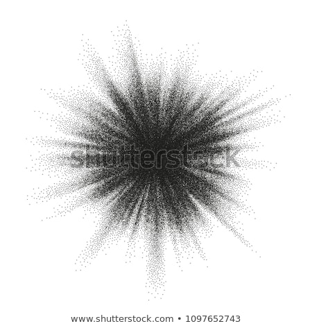 Abstract monochrome halftone blast. EPS 10 Stock photo © beholdereye