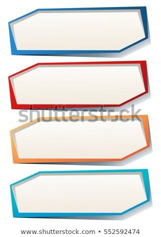Quatro retângulo muitos cores ilustração Foto stock © bluering