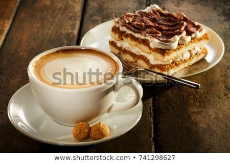 beker · koffie · stuk · cake · voedsel · thee - stockfoto © mizar_21984