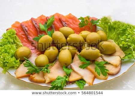рыбы оливками закуска русский кухня Сток-фото © frimufilms
