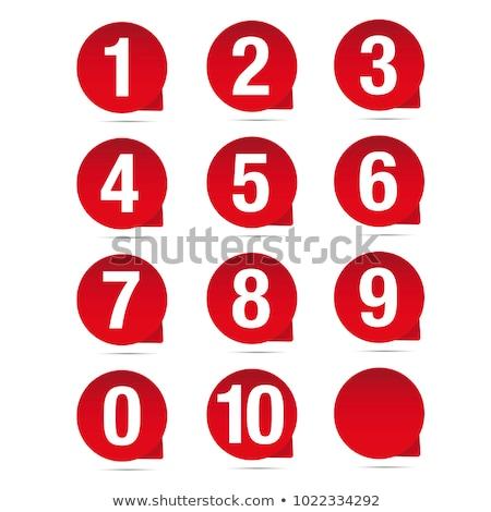números · coleção · descobrir · isolado · branco · água - foto stock © oakozhan