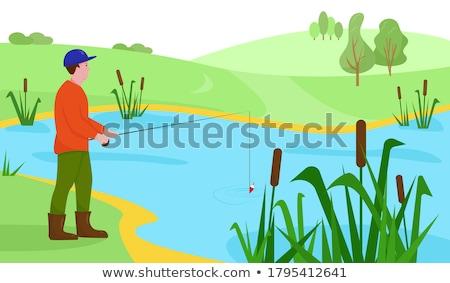 Rzeki krajobraz rano przeciwmgielne chłodny Zdjęcia stock © raywoo