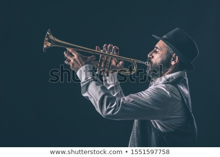 Dark portrait of a brass musician Stock photo © andreasberheide