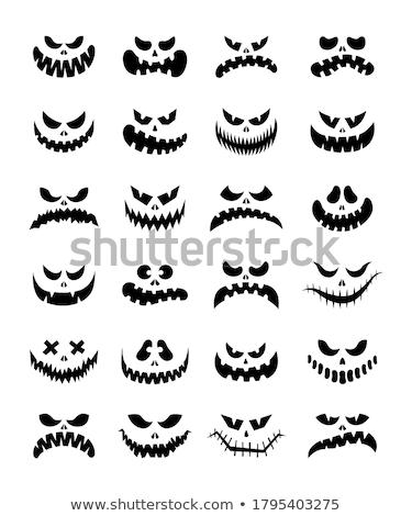 Scary grin femminile faccia verniciato Foto d'archivio © Fisher