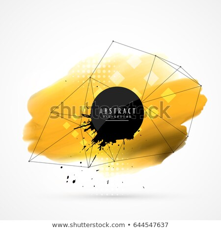 yellow watercolor wire frame mesh Stock photo © SArts