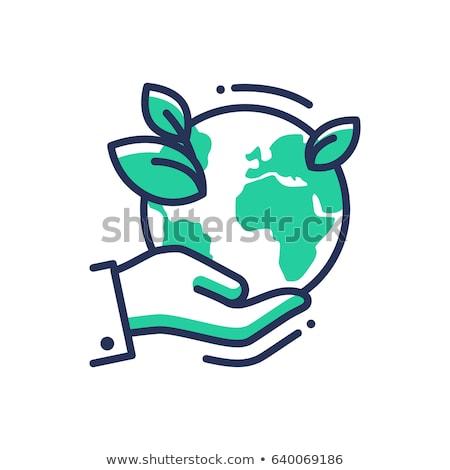 green earth   modern vector single line icon stock photo © decorwithme