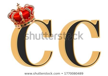 Alfabet litera c odizolowany biały projektu zielone Zdjęcia stock © pashabo