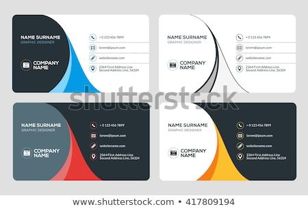 минимальный черно белые визитной карточкой дизайна корпоративного черный Сток-фото © SArts