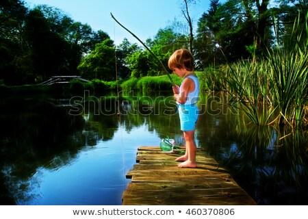 boy fishing in the forest stock photo © wavebreak_media