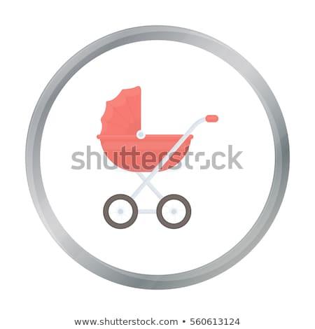 Kinderwagen voorraad geïsoleerd witte meisje baby Stockfoto © konturvid