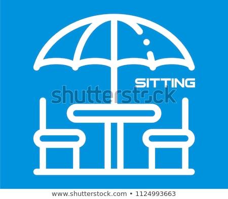 Semplice ombrello bianco diverso ombrelli isolato Foto d'archivio © romvo