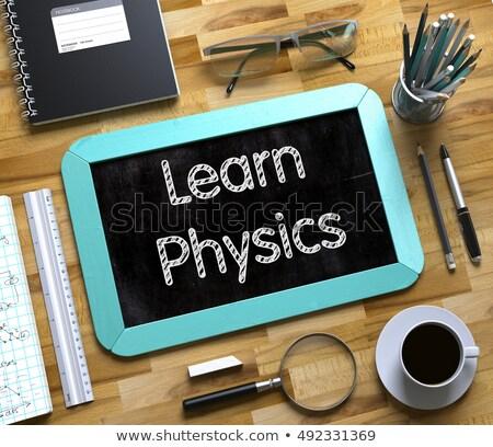 Small Chalkboard with Learn Physics Concept. 3D Stock photo © tashatuvango