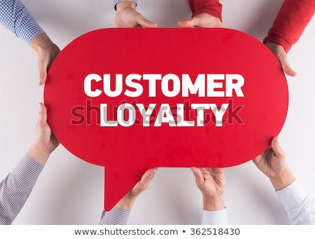 Entwicklung Kunden Loyalität Business grünen Inschrift Stock foto © tashatuvango
