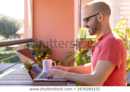 School boys sitting outside office stock photo © IS2