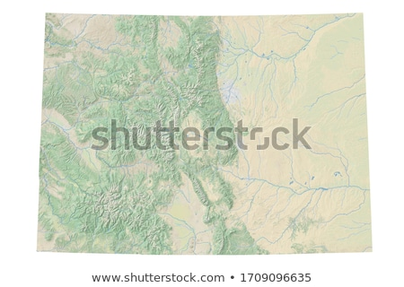 Mapa Colorado fundo linha EUA Foto stock © rbiedermann