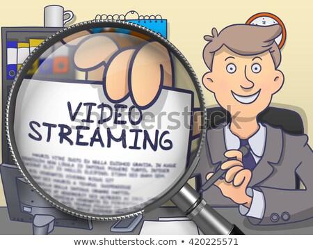 nagyító · firka · internet · protokoll · televízió · papír - stock fotó © tashatuvango