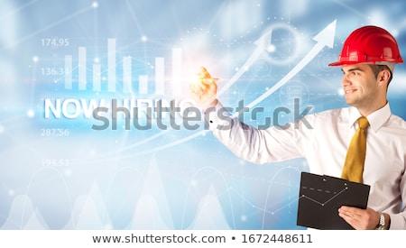 Ahora tecnología especialista periódico anuncio Foto stock © tashatuvango