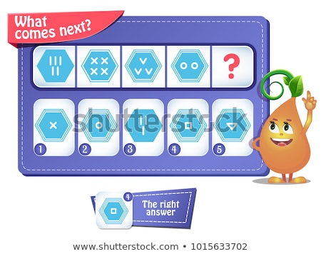 memory game children shapes 2 stock photo © olena