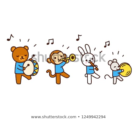 Musical Notes Mascot March Stock photo © lenm