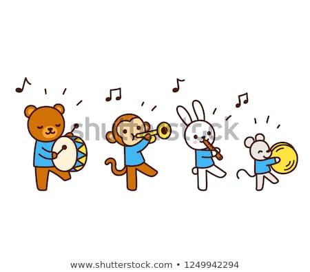музыку · сведению · талисман · ноты · отмечает · человека - Сток-фото © lenm