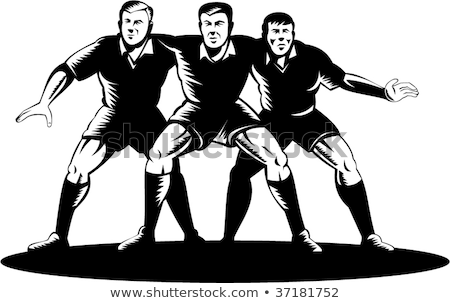 row of rugby players stock photo © is2