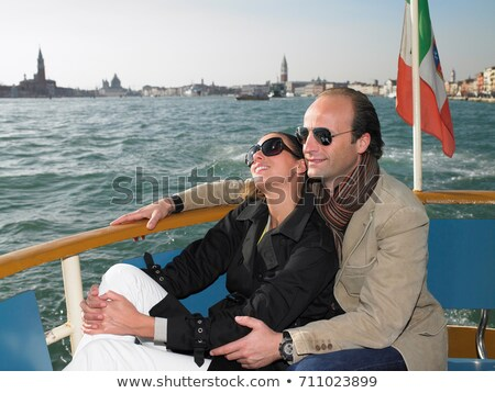 Couple on the sluice of Venice, Italy Stock photo © IS2