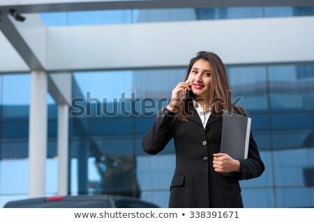 индийской · секретарь · говорить · телефон · корпоративного - Сток-фото © studioworkstock