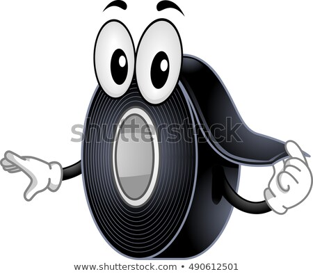 Mascot Black Electrical Tape Stock photo © lenm