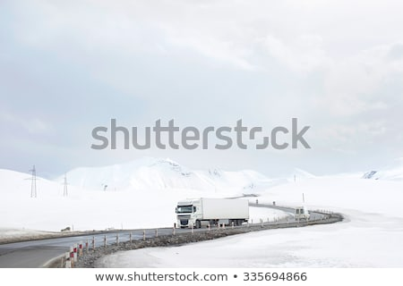 autostrady · śniegu · góry · krajobraz · charakter · górskich - zdjęcia stock © joyr