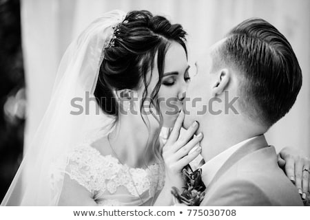 Couple kissing in pink tent Stock photo © IS2