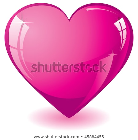 glass hearts on pink Stock photo © lubavnel