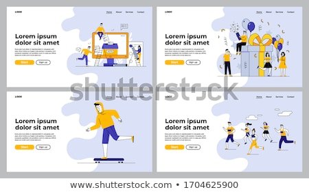 skateboarding internet page vector illustration stock photo © robuart