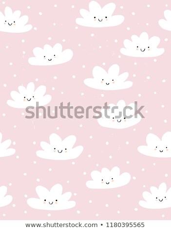 光 · ピンク · 赤ちゃん · 雲 · シームレス · ベクトル - ストックフォト © yopixart
