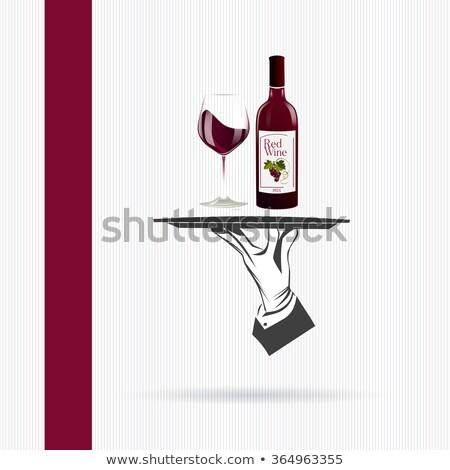 üveg · vörösbor · fehér · vacsora · piros · alkohol - stock fotó © robuart